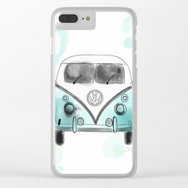 Watercolor Westfalia Clear iPhone Case
