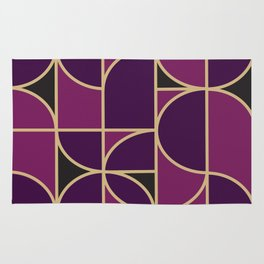 Art Deco Morning Dance In Purple In Big Scale Rug
