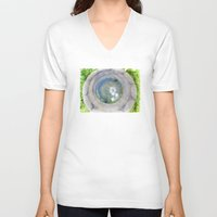 zen V-neck T-shirts featuring Zen  by Heidi Fairwood