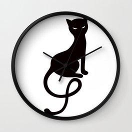09054 Gracious evil black c Wall Clock