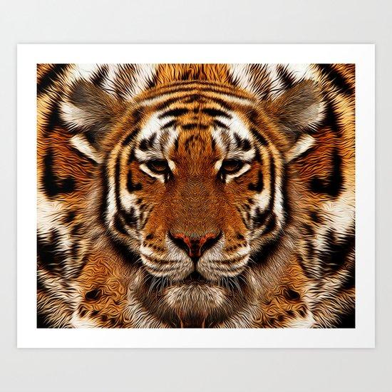 camouflage tiger Art Print