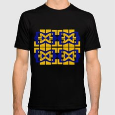 Go Blue Mens Fitted Tee Black MEDIUM