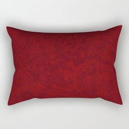 Marble Granite - Burgundy Maroon Rectangular Pillow