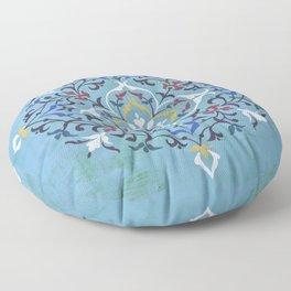 Calligraphy Flower Floor Pillow