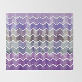 CHEVRON STRIPES - PURPLE Throw Blanket