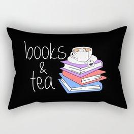 Bookworm Books and Tea - Inverted Rectangular Pillow