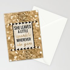 She Leaves a Little Sparkle Wherever She Goes Stationery Cards
