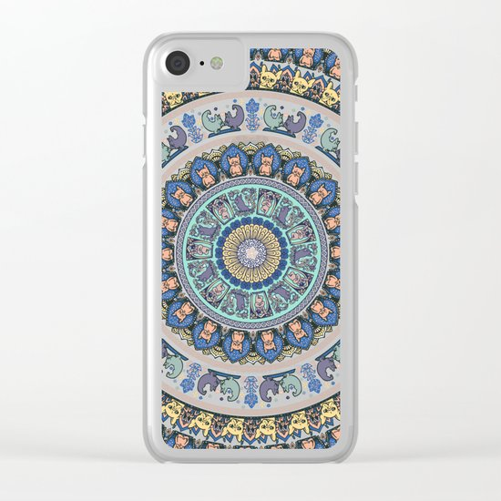 Frenchie Yoga Medallion Clear iPhone Case