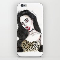 charli xcx iPhone & iPod Skins featuring Charli by Lucas David