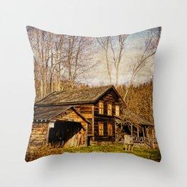 John Burroughs Woodchuck Lodge Throw Pillow