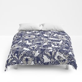 butterfly white Comforters