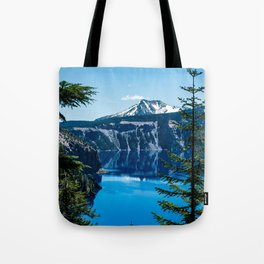 Crater Lake // Incredible National Park Views of the Dark Blue Waters Sky and Mountains through the Tote Bag