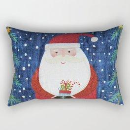 Santa with Stocking Rectangular Pillow