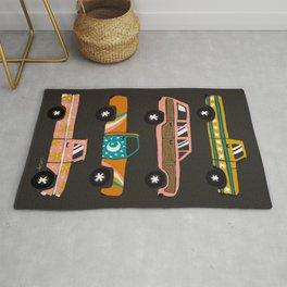 Retro Roads – Charcoal Rug