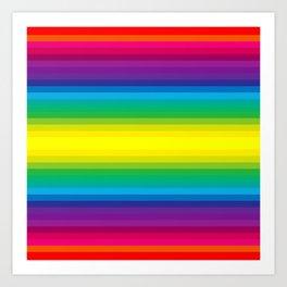 Rainbow Stripes I Art Print