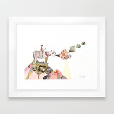 Rhinos Smell Roses Too Framed Art Print