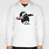 banksy Hoodies featuring Banksy + Android = Bankdroid by Williams Davinchi