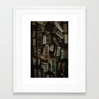 stickers Framed Art Prints featuring Kyoto Name Stickers 1 by Jason Halayko