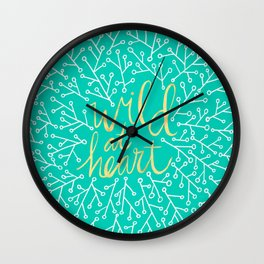 Wild at Heart – Turquoise Wall Clock
