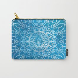 Fire Blossom - Cyan Carry-All Pouch