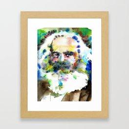 KARL MARX - watercolor portrait .3 Framed Art Print
