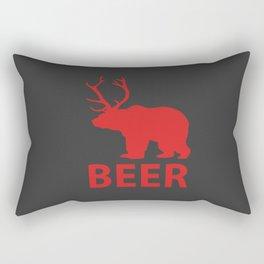 DEER & BEAR = BEER Rectangular Pillow