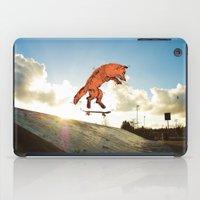 skateboard iPad Cases featuring Skateboard FOX! by Jesse Robinson Williams