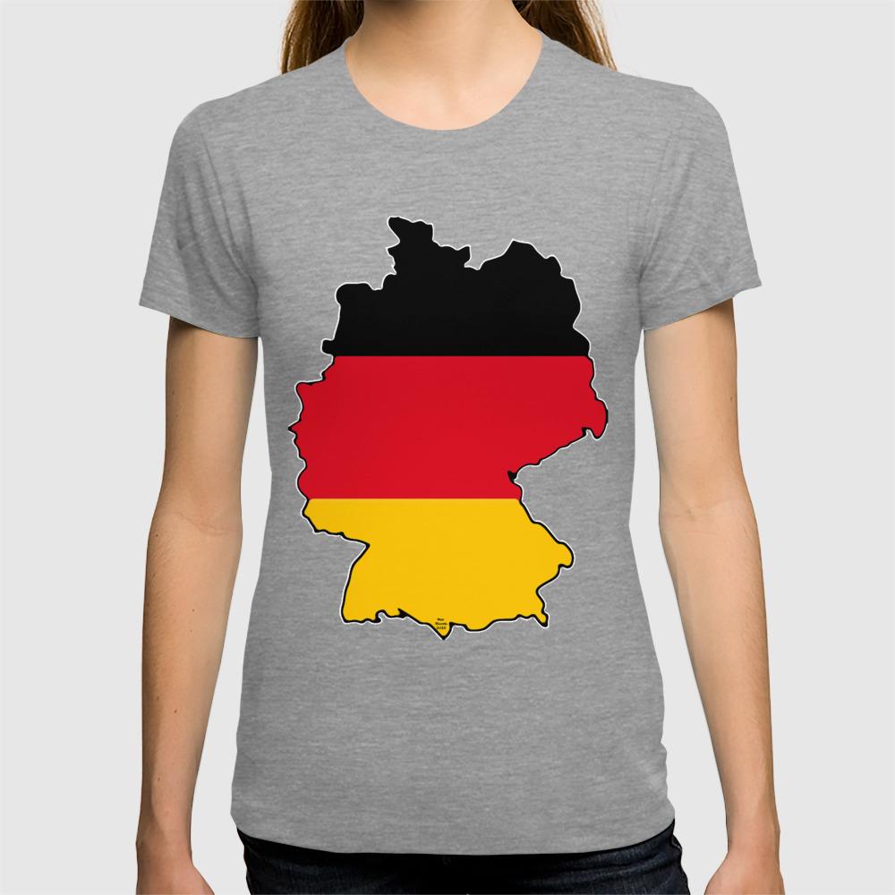 German AF Shirt for Men Germany Map Gifts for Him Germany Shirts German Flag
