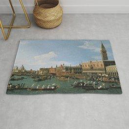 Canaletto Bernardo Bellotto  -  Return Of il Bucintoro On Ascension Day Rug