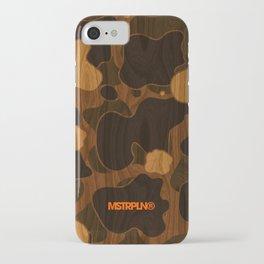 Modern Woodgrain Camouflage / Duck Print iPhone Case