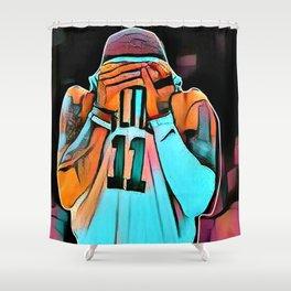 basketball star poster Shower Curtain