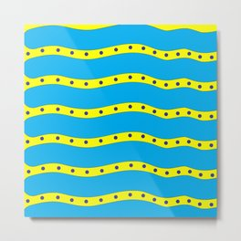 Coastal Pattern On the Beach Metal Print