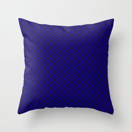 Scottish Fabric High res Blue Throw Pillow