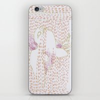falcon iPhone & iPod Skins featuring Falcon by Julia Walters Illustration