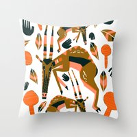 africa Throw Pillows featuring Africa by Marijke Buurlage