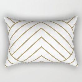 Diamond Series Pyramid Gold on White Rectangular Pillow