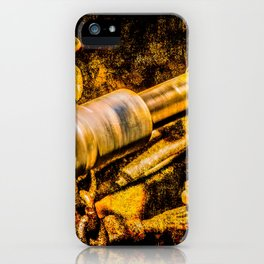 Rotating Cardan Shaft. Grunge Rusty Metal. Motion Blur iPhone Case