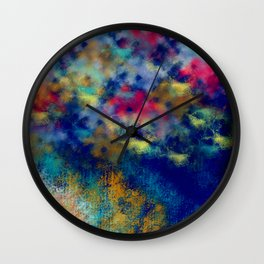 Abstract Frosted Garden Wall Clock