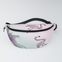 pink flamingo story Fanny Pack