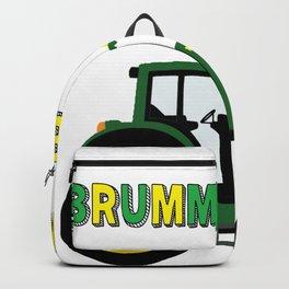 Brumm Brumm Traktor lustiges Bauernhof Kinder Trekker  Backpack