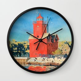 Holland Big Red Focus Wall Clock
