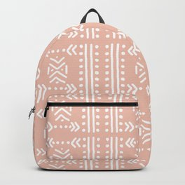 Mudcloth No.4 in Blush + White Backpack