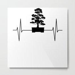 Bonsai Tree EKG Heartbeat Japan Culture Gift Metal Print