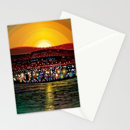 Angel Island Sunset (Square) Stationery Cards