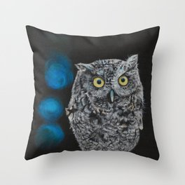 Tuula the Screech Owl by Teresa Thompson Throw Pillow