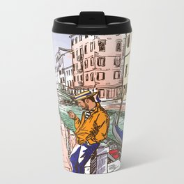 Sketches from Italy - Venice 02 Metal Travel Mug