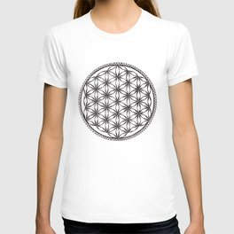 Flower of Life (b&w) T-shirt