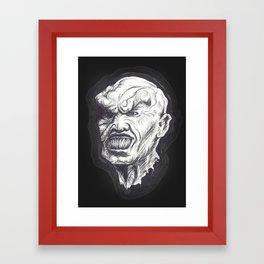 Goosebumps Mask Framed Art Print