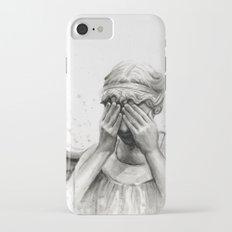 Weeping Angel Watercolor Painting iPhone 7 Slim Case