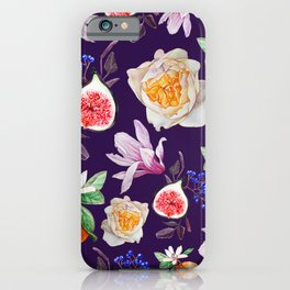 Violet mediterranean pattern iPhone Case